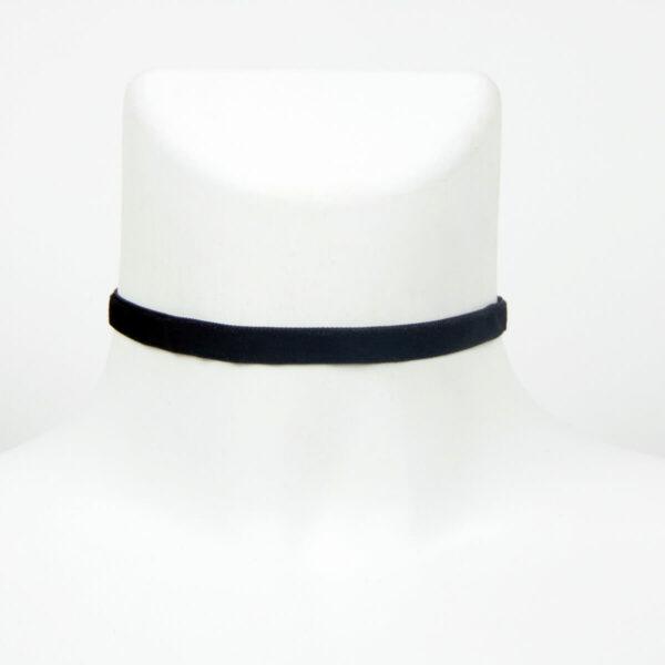Sametový choker náhrdelník černý