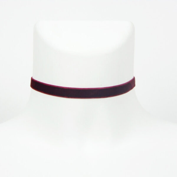 Vínový choker náhrdelník